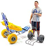 Waterwheels Floating Beach Pool Wheelchair Water, Sand, Sea, Balloon + CHALLENGER Beach Cart