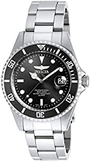 Invicta Men's PRO DIVER Steel Bracelet & Case Quartz Black Dial Watch 8932OB