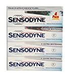 Sensodyne Maximum Strength & Extra Whitening (pack of 4) Net Wt 6.5 oz(184g)per tube