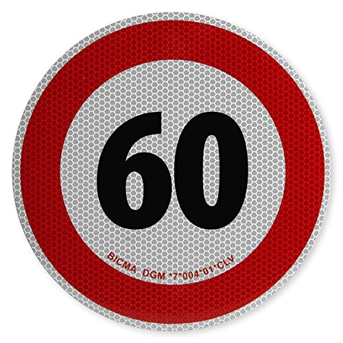 Geschwindigkeitsschild 60 km/h Italien 200mm auf Aluminium Tempolimit italienische Hochgeschwindigkeitsbegrenzungsschilder für Kraftfahrzeuge