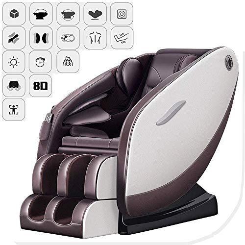 ZHANGYY Massagesessel Electric Relax Armchair Schwerelosigkeit/Bluetooth Musik/Genuss/Back Hot Compress/Hüftvibration/Fußrollenmassage/Zeitmassagegerät