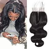 Middle Part Lace Closure Body Wave Brazilian Virgin Hair 4x4 Lace Closure with Baby Hair(10 inch)