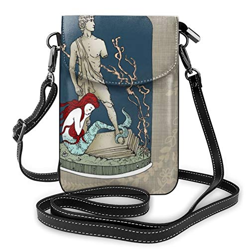 Fundas de cojín de cuento de hadas, bolso de hombro de piel, bolso cruzado para teléfono celular, bolso ligero, bolso de mano, bolso para mujeres, viajes de compras