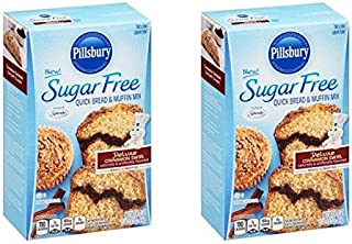 Pillsbury New! Sugar Free Deluxe Cinnamon Swirl Quick Bread & Muffin Mix 0g Sugar 1g Sat Fat - 16.4 Oz (Pack of 2)