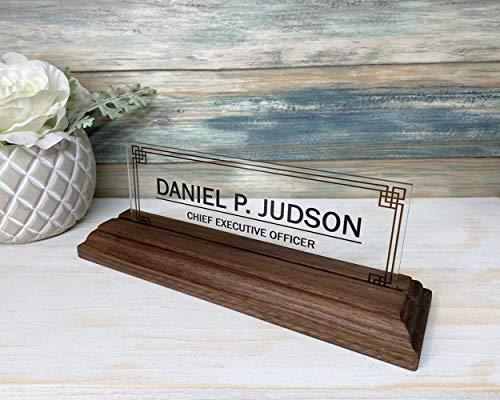 "Desk Name Plate Personalized | Custom Name Plates | Name plate Men | Desk Office | Office Men Sign | Name Plaque Men | Men Gift - (8""x3"")"