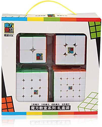 Kit Cubo Mágico Moyu Mofangjiaoshi Mf2s+ Mf3rs+ Mf4s+ Mf5s