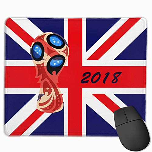 Engeland 2018 Voetbal Cup Gepersonaliseerd Ontwerp Muis Pad Gaming Mouse Pad met gestikte randen Mousepads, Anti-lip Rubber Base, 9.8x12 Inch, 3mm Dikke - Beste Gift Idee