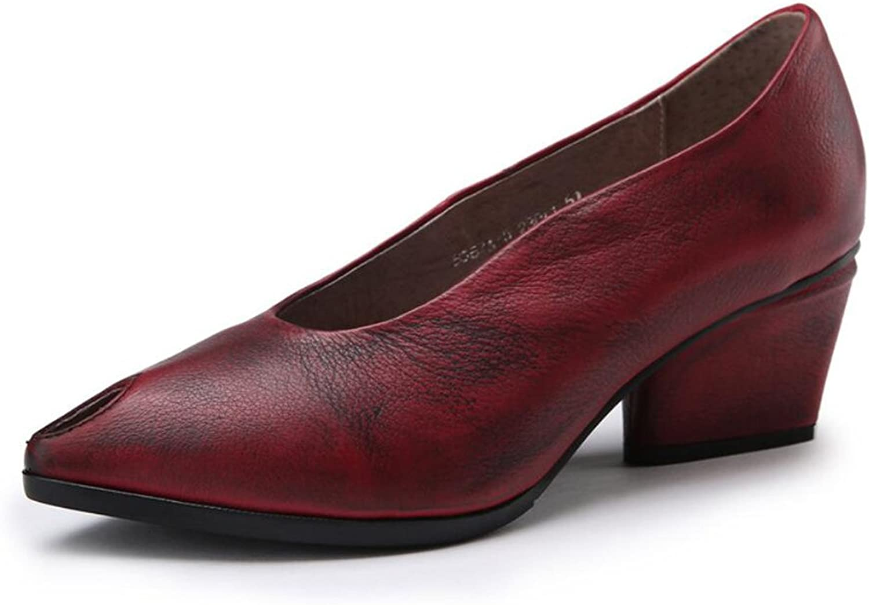 XUE Damenschuhe Leder Frühjahr Sommer Loafers & Slip-Ons Fahr Schuhe National Style Sandalen Hausschuhe & Flip-Flops Wanderschuhe Office Breathable (Farbe   EIN, Größe   35)    Qualitativ Hochwertiges Produkt