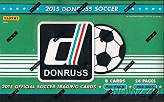 2015 Donruss Soccer HUGE 24 Pack Factory Sealed HOBBY Box with 192 Cards & AUTOGRAPH CARD! Look for Cards & Autographs of Superstars including Lionel Messi, Ronaldo,Neymar Jr,Iker Casillas & Many More