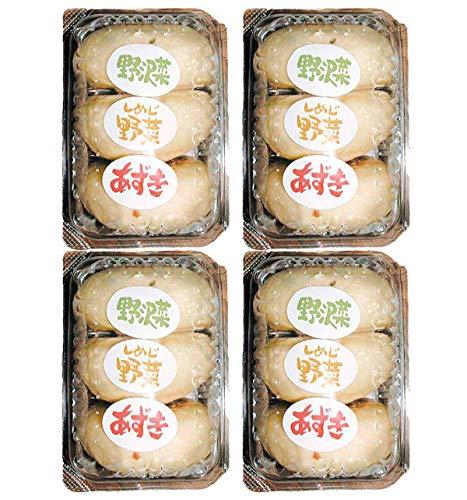 【クール配送】信州小川の庄縄文おやき おやきパック3個入(野沢菜、しめじ、あずき)×4パック