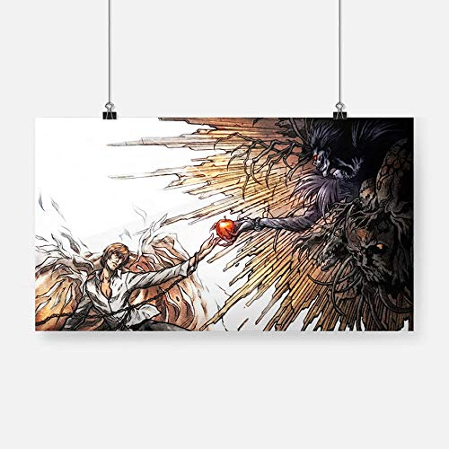 wsqyf Japan Anime Light Yagami Ryuk Death Note Poster Prints Canvas Painting Wall Art Decor Living Room Bedroom Study Home Decoration/50x100cm (no Frame)