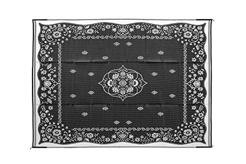 Camco 42853 Oriental Awning Leisure Mat-Charcoal 9' X 12'