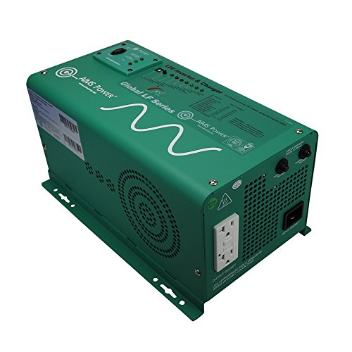 AIMS Power PICOGLF12W12V120AL Green 1250W Power Inverter Charger with Transfer Switch (12VDC to 120VAC)