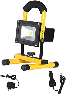 Spotlights Work Lights Outdoor Camping Lights, Built-in Rechargeable Lithium Batteries,Waterproof LED Flood Lightsfor O...