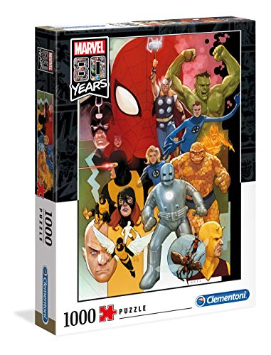 Clementoni 39534 Puzzle 1.000 Teile-Marvel 80 Years