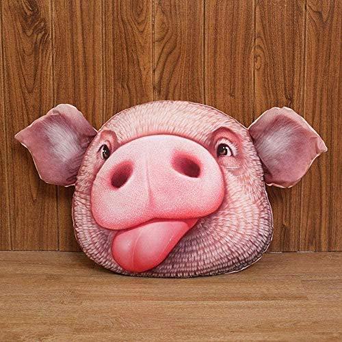 NC87 Almohada de Cabeza de Cerdo de simulación de Personalidad Natural de 38 cm, muñeco de Peluche, Almohada de muñeca Divertida guarra