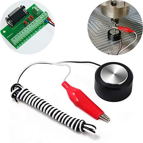 CESFONJER Placa de contacto CNC, herramienta de enrutador de eje Z Ajuste de la sonda de fresado Máquina de grabado CNC Auto-Check Sonda de ajuste del instrumento