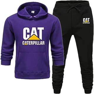 Men's Sports Suit Plain Everyday Casual Gym Workout Tracksuit Jog Pants & Hoodie Set,Purple,XXXL