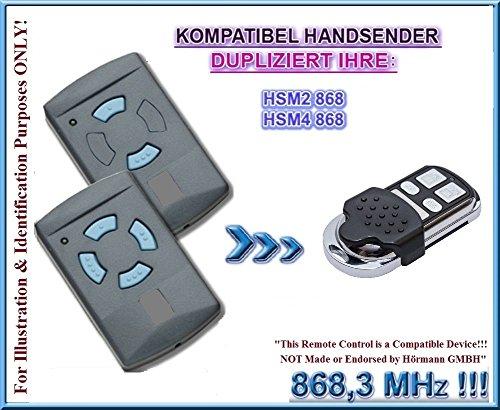 Hörmann HSM2 868 / Hörmann HSM4 868 kompatibel handsender, klone fernbedienung, 4-kanal 868.3Mhz fixed code. Top Qualität Kopiergerät!!! (Nicht kompatibel mit BS BiSecur fernbedienungen)