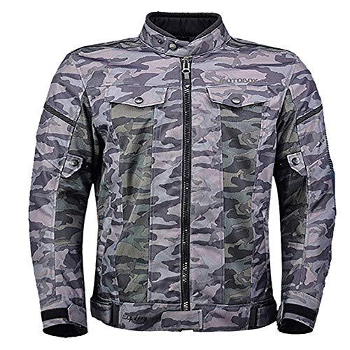 LALEO Unisexe Couleur de Camouflage Veste de Moto, Maille Respirante Imperméable Coupe-Vent Réglable Grande Taille Printemps été Femme Homme,4XL