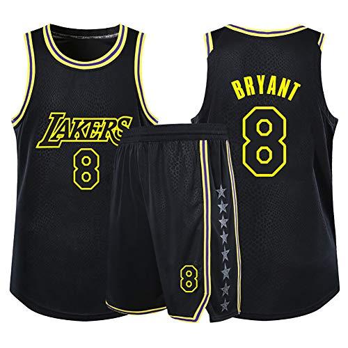 WU Magliette da Basket per Ragazzi e Ragazze, Kobe Bean Bryant NBA Los Angeles Lakers # 30 Maglia da Basket per Bambini Canotta Pantaloncini Estivi,XS
