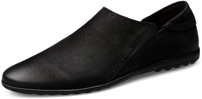 Herren Herren Herren Mokassins Schuhe, Herren Minimalismus Driving Penny Loafers Runde Zehe Slip-on Casual Mokassins Weiche Flache Sohle (Farbe   Schwarz, Größe   42 EU) ( Farbe   Schwarz , Größe   44 EU ) 230