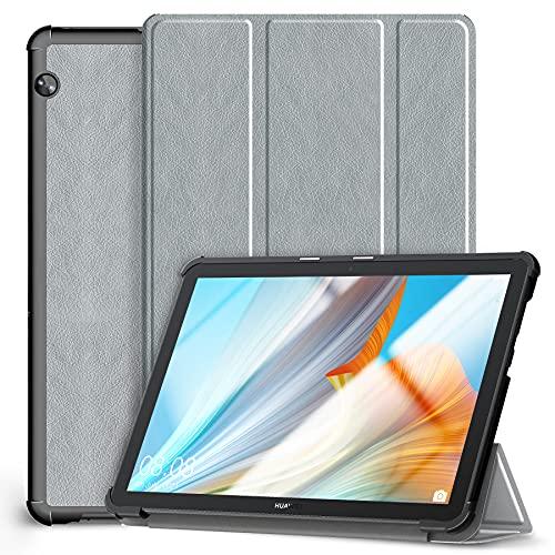 Kdely Custodia Compatibile con Huawei MediaPad T5 10 10.1, Ultra Sottile Cover Protezione con Funzione di Supporto Slim Case per Huawei MediaPad T5 10-Grigio