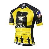 Hotlion Maillot de ciclismo para hombre, manga corta, con 3 bolsillos traseros, absorbe la humedad, transpirable, de secado rápido - - XX-Large