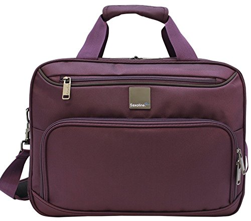 Saxoline - Borsa Flight Bag Blue Alpine, Colore: Melanzana