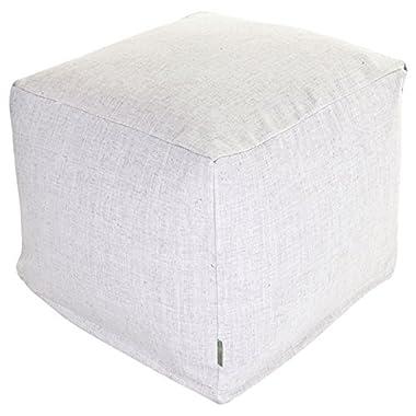Majestic Home Goods Magnolia Wales Indoor Bean Bag Ottoman Pouf Cube 17  L x 17  W x 17  H