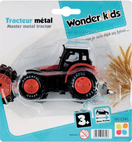 WDK PARTNER - A1100022 - Véhicules miniatures - Tracteur 10 cm métal - Coloris aléatoire