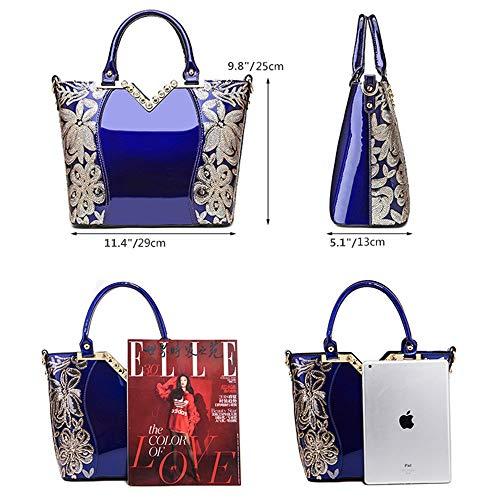Elegant Design Leather Womens Hand Bag, Black