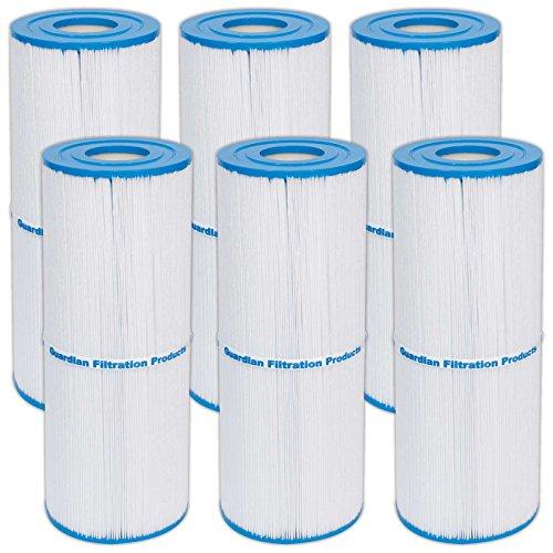 6 Guardian Pool Spa Filter Replaces Unicel C-4950 Pleatco Prb50-in Filbur FC-2390 Jacuzzi Cartridge