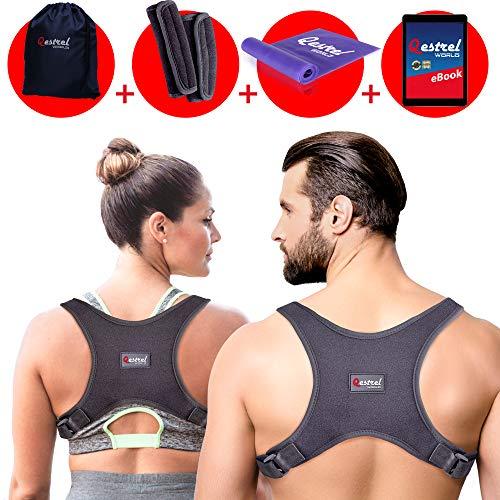 Price comparison product image Qestrel World Back Straightener Posture Corrector For Men And Women - Adjustable Pain Relief Back Brace Supporting Neck,  Back and Shoulder