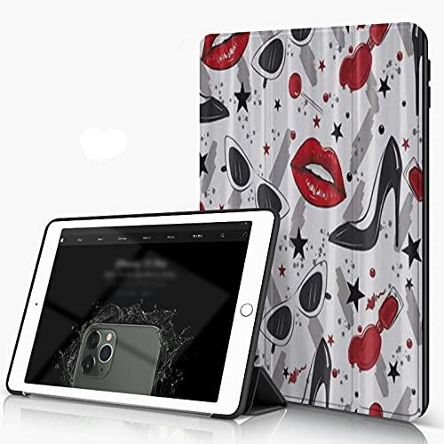 She Charm Funda para iPad 9.7 para iPad Pro 9.7 Pulgadas 2016,Gafas de Sol de Labios Rojos de tacón Alto,Incluye Soporte magnético y Funda para Dormir/Despertar