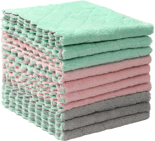 超吸水珊瑚绒洗碗布10件