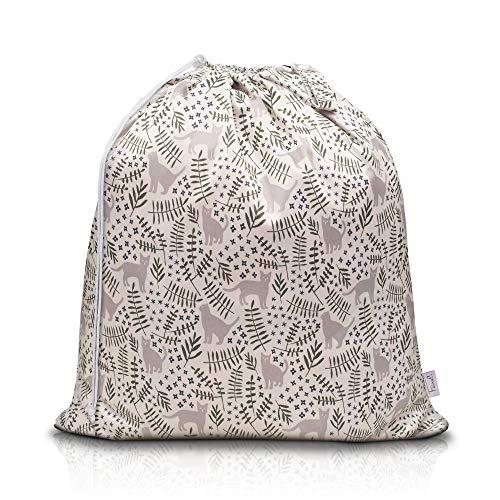 Feineli Wäschesammler Wetbag (Kätzchen) - 63x70cm - Wäschebeutel mit Schlaufe und Kordelzug - wasserabweisender Wäschesack, ideal für Wäscheeimer und Wäschetonnen