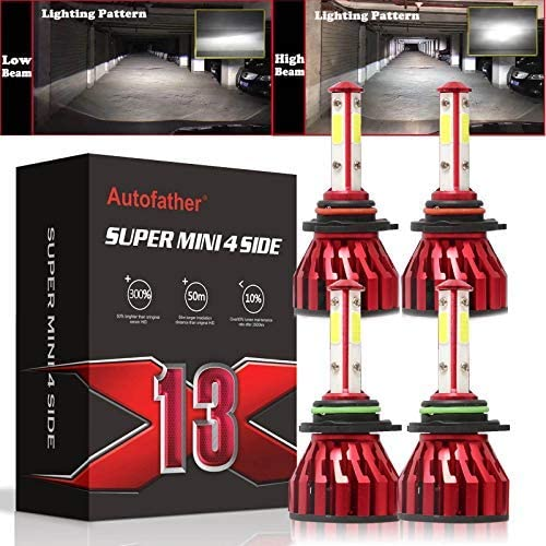 discount 9005 HB3 +9006 HB4 LED Headlight Bulbs Combo Kit 240W for Chevrolet Colorado 2004-2012 lowest High & Low Beam 4 Sided Chips 12000LM new arrival Per Pair, 5 Year Warranty outlet online sale