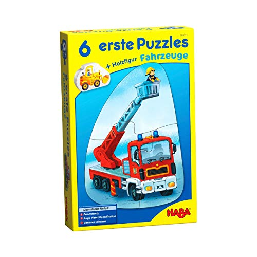 Haba 303311 - Puzzles 6 erste, Fahrzeuge, Spiel