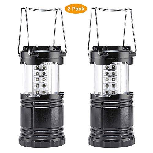 BaiYi Farol de Camping LED,Camping Lantern- Brillante LED Lantern se Puede Plegar Apto para Senderismo,Camping,emergencias,Huracanes Cortes superbrillantes Ligero Resistente al Agua[2 Pack]