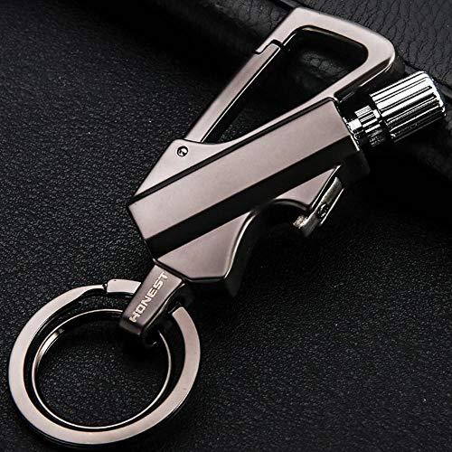 AMA-StarUK36 Outdoor Multifunktions-Match Survival-Werkzeug Schlüsselanhänger, Schnellspanner, Abnehmbarer Schlüsselanhänger, Schwarz