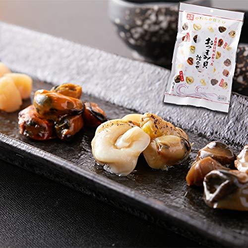 天然生活 おつまみ貝 4種 詰め合わせ 26包入り 貝柱 ムール貝 つぶ貝 浜焼き貝