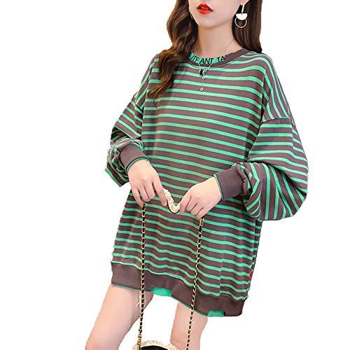 Blusa larga con capucha y bolsillos, ideal para invierno, senderismo, verde, L