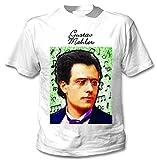 Photo de teesquare1st Men's Gustav Mahler Composer T-Shirt Blanc avec Imprimé Size Large