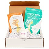 Sparkling Mama Pregnancy Gift Set: Includes Citrus & Ginger Fizzelixir Morning Sickness Relief, Dead Sea Foot Soak, Nourishing Belly Cream (Perfect for 1st Trimester, Expecting Mom), Ready to Gift