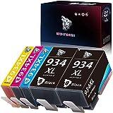 Wolfgray - 5 cartuchos de tinta compatibles con HP 934XL 935XL 934XL 935XL para HP Officejet Pro 6830 6230 6812 6815 6835 6820 (2 negro, 1 cian, 1 magenta y 1 amarillo)