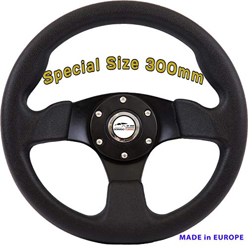 [DTi M1] Dorado Tuning Sportlenkrad/Lenkrad Ø 300mm Rallye/Drift/Rannen/Universal/Schwarz