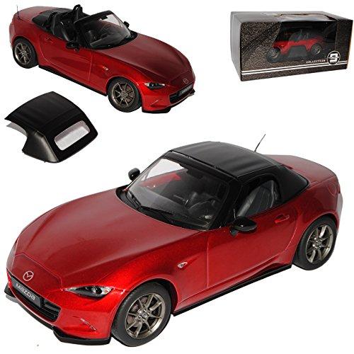 PremiumX Mazda MX5 ND Cabrio Rot Metallic mit abnehmbarem Soft Ab 2015 Limitiert 1 von 600 Triple 9 1/18 Modell Auto mit individiuellem Wunschkennzeichen