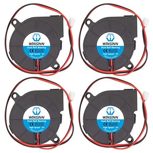 WINSINN 5015 5V 12V 24V DC Rodamiento de bolas Ventilador sin escobillas, 50 x 50 x 15 mm para DIY impresora 3D extrusora Hotend V6 V5 Makerbot MK7 MK8 CPU Arduino 5015 5 V.