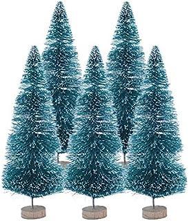 Seasonal Décor 5PCS. الأخشاب السيزال أشجار عيد الميلاد البسيطة ديني شجرة عيد الميلاد الاصطناعية لعيد الميلاد الديكور الثلو...